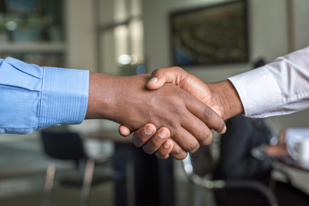 Hand shake Image after a Deal Closed